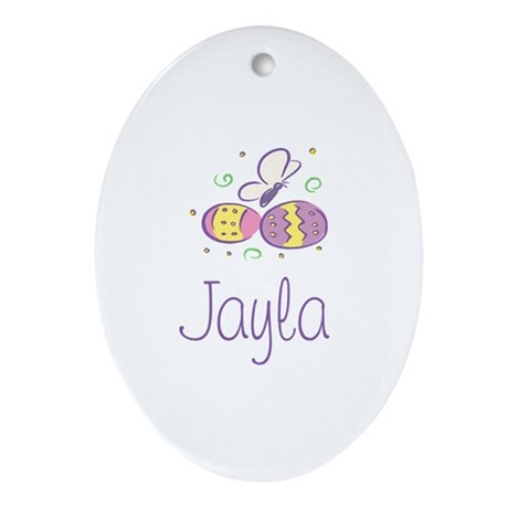 Easter Eggs - Jayla Oval Ornament