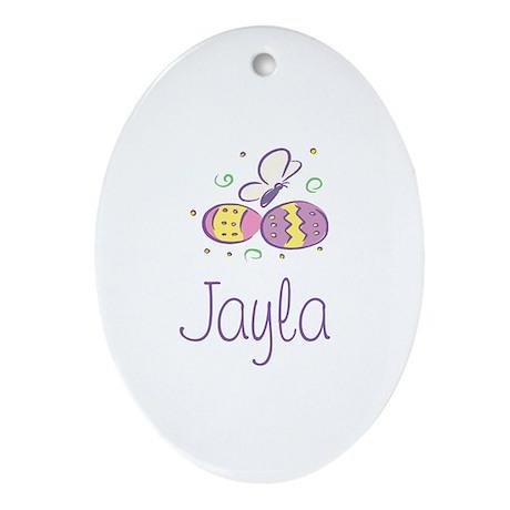 Easter Eggs - Jayla Oval Ornament