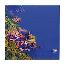 Artistic Vernazza Italy Tile Coaster