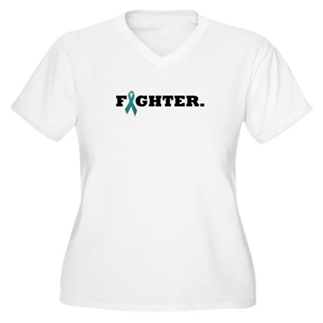 Fighter White Plus Size T-Shirt