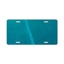 Painted lines in swimming p Aluminum License Plate