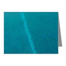 Painted lines in swimming po Note Cards (Pk of 10)