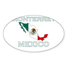 Monterrey, Mexico Oval Decal