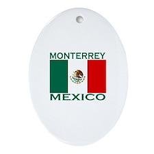 Monterrey, Mexico Oval Ornament