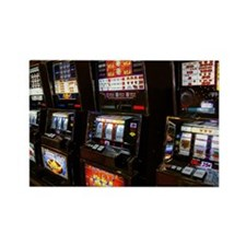 Slot machines in casino Rectangle Magnet