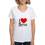 I Love Byron Women's V-Neck T-Shirt