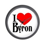 I Love Byron Wall Clock