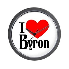 I Love Byron Wall Clock