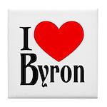 I Love Byron Tile Coaster