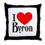I Love Byron Throw Pillow
