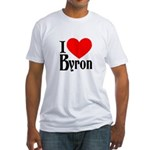 I Love Byron Fitted T-Shirt