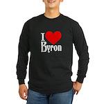 I Love Byron Long Sleeve Dark T-Shirt