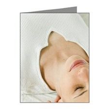 Woman getting massage Note Cards (Pk of 20)