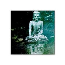 "Buddha Reflection Square Sticker 3"" x 3"""
