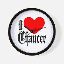 I Love Chaucer Wall Clock