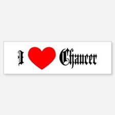 I Love Chaucer Bumper Car Car Sticker