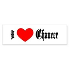 I Love Chaucer Bumper Car Sticker