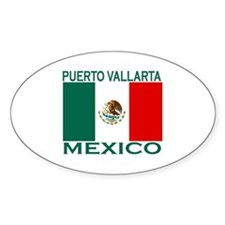 Puerto Vallarta, Mexico Oval Decal