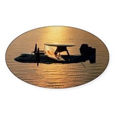 E-2C Hawkeye aircraft flying above  Decal