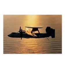 E-2C Hawkeye aircraft fly Postcards (Package of 8)