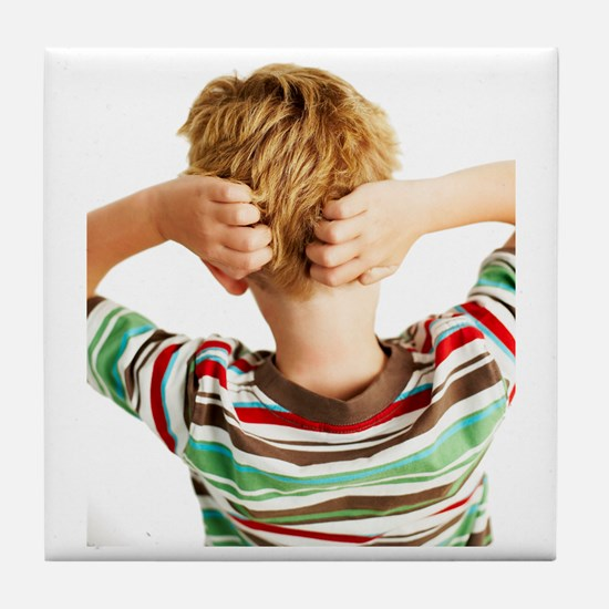 Head lice Tile Coaster