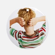 Head lice Round Ornament