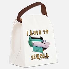 ilovetoscrollEX Canvas Lunch Bag