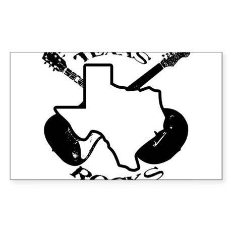 Texas Rocks Rectangle Sticker