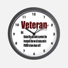 Veteran Definition Wall Clock