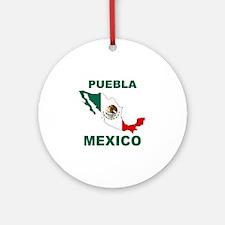 Puebla, Mexico Ornament (Round)