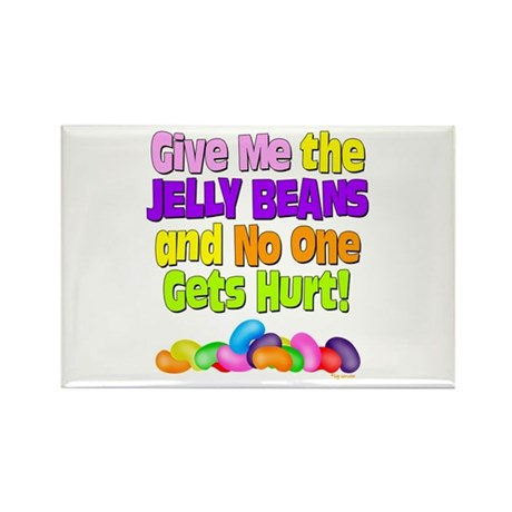 Give me the Jelly Beans Rectangle Magnet (100 pack