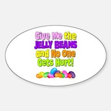 Give me the Jelly Beans Oval Decal
