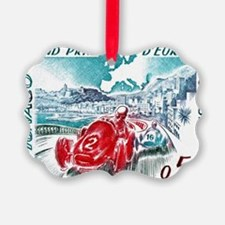 1963 Monaco Grand Prix Postage St Ornament