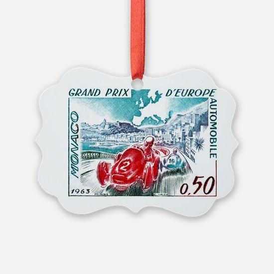 1963 Monaco Grand Prix Postage St Ornament