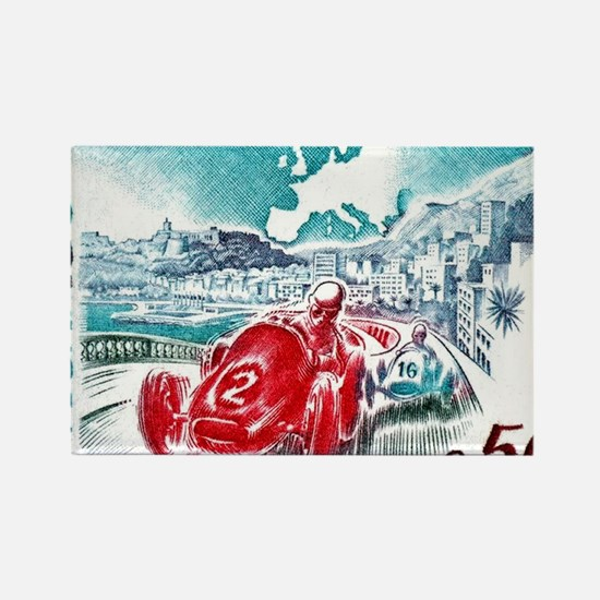 1963 Monaco Grand Prix Postage St Rectangle Magnet