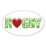 The Rugby Rush Oval Sticker