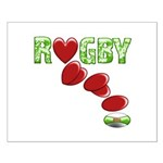 The Rugby Rush Small Poster