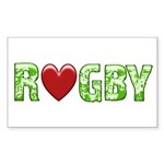 The Rugby Rush Rectangle Sticker