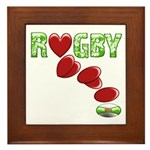 The Rugby Rush Framed Tile