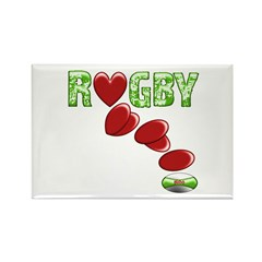 The Rugby Rush Rectangle Magnet (100 pack)