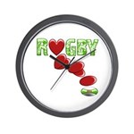 The Rugby Rush Wall Clock