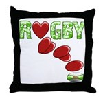 The Rugby Rush Throw Pillow