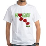The Rugby Rush White T-Shirt
