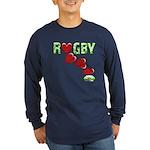 The Rugby Rush Long Sleeve Dark T-Shirt