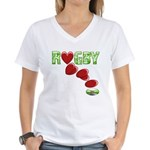 The Rugby Rush Women's V-Neck T-Shirt