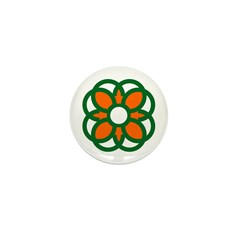 Irish Flag Shamrock Mini Button (100 pack)