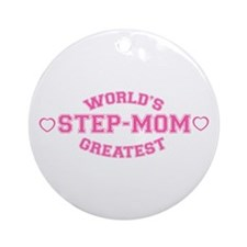 World's Greatest Step-Mom Ornament (Round)