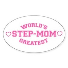 World's Greatest Step-Mom Oval Decal