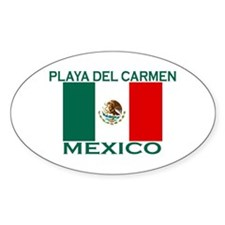 Playa Del Carmen, Mexico Oval Decal