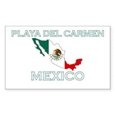 Playa Del Carmen, Mexico Rectangle Decal
